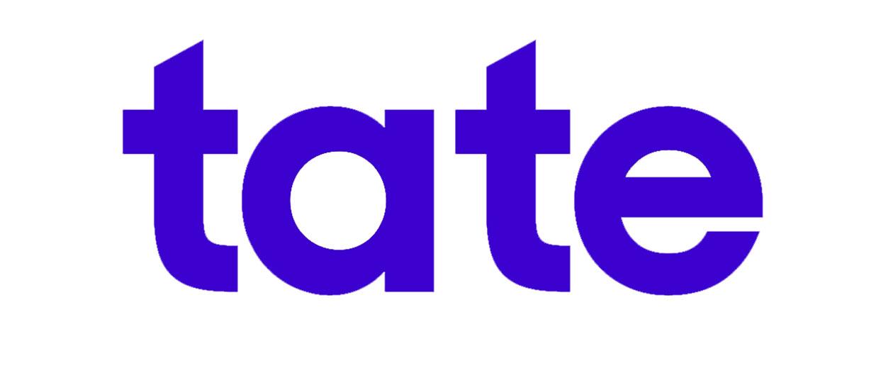 Tate logo bianco