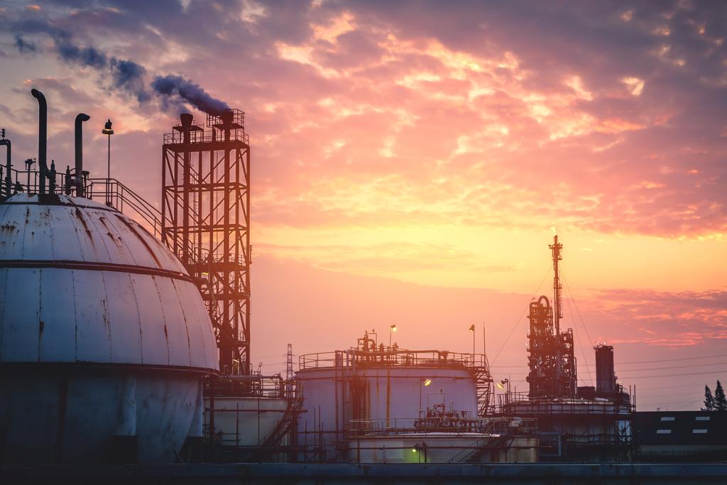 stoccaggio materie prime gas