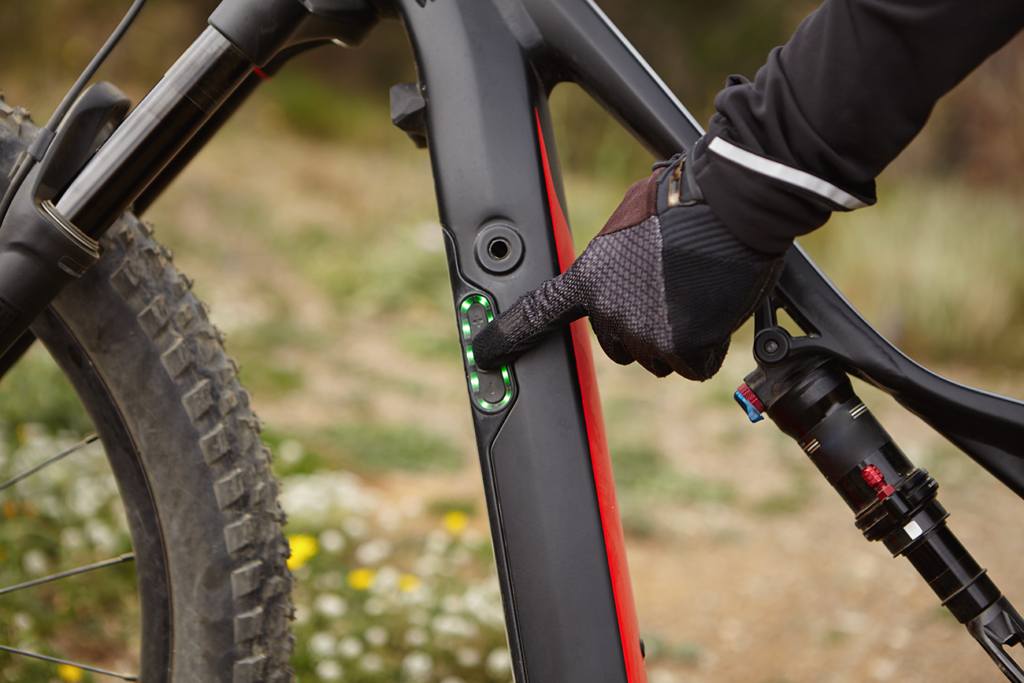 centralina integrata nella bici elettrica con indicatore carica