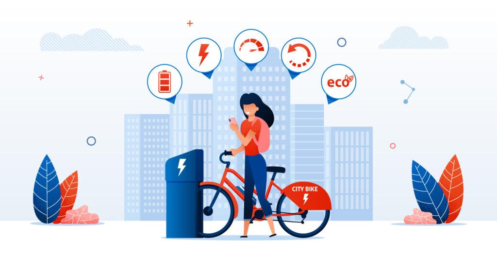 bici elettrica ricarica ecologica
