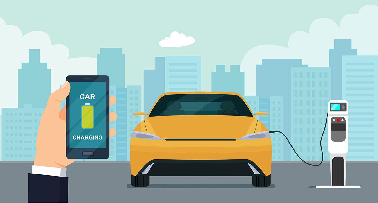 ricarica auto elettrica smartphone
