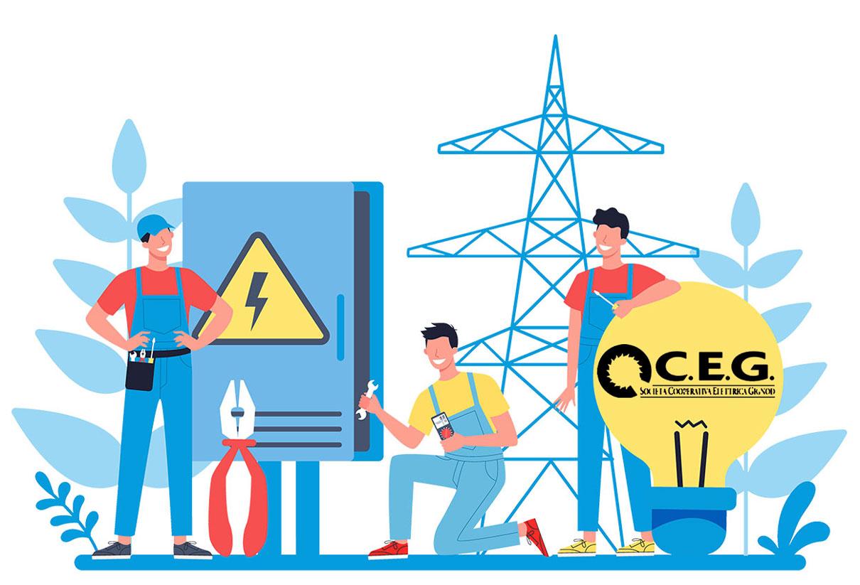 CEG Società Cooperativa Elettrica Gignod distributore luce