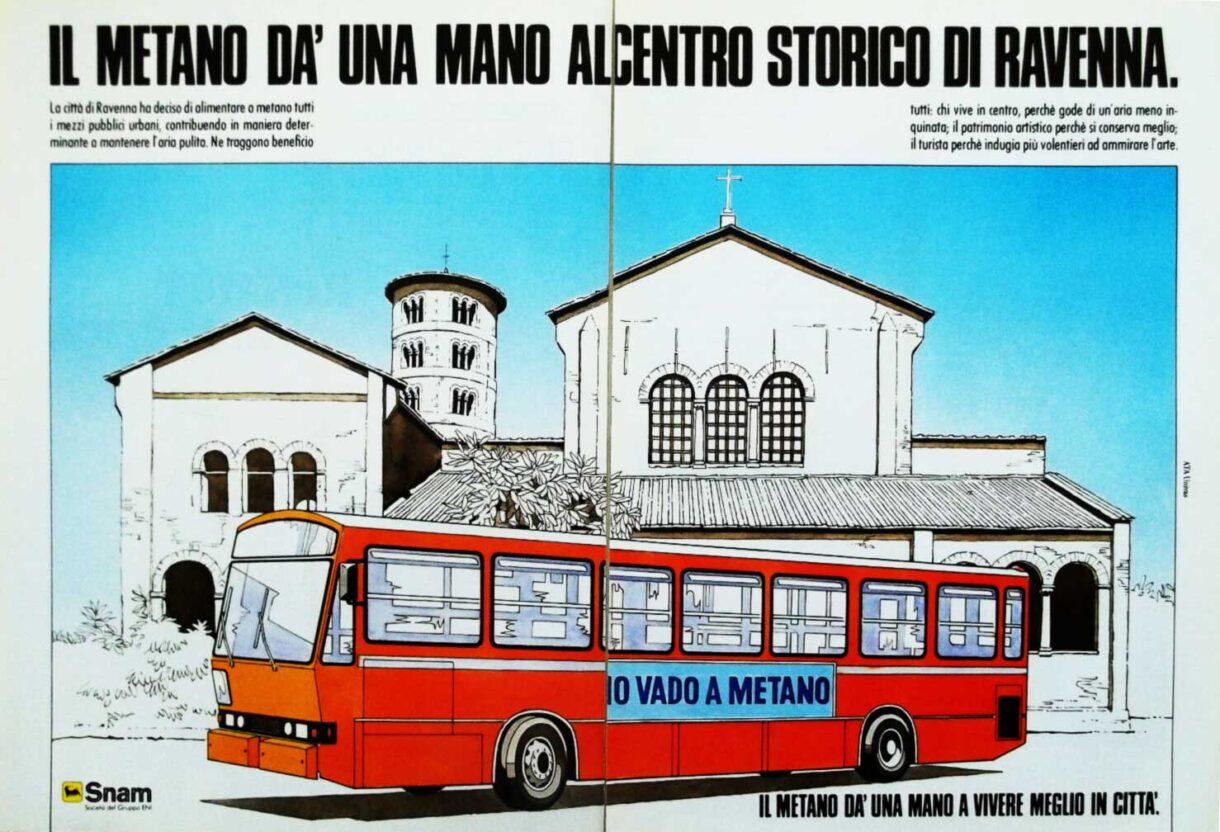 pubblicità SNAM gas metano ti dà una mano a Ferrara 1987